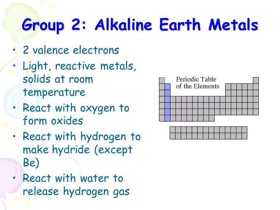 Periodic table elements alkaline earth metals image collections periodic table alkaline earth metals reactivity choice image periodic table group 2 periodic table reactions periodic urtaz Images