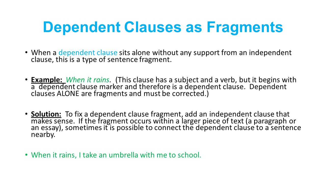 Sentence Fragments and Run-Ons This PowerPoint presentation will ...
