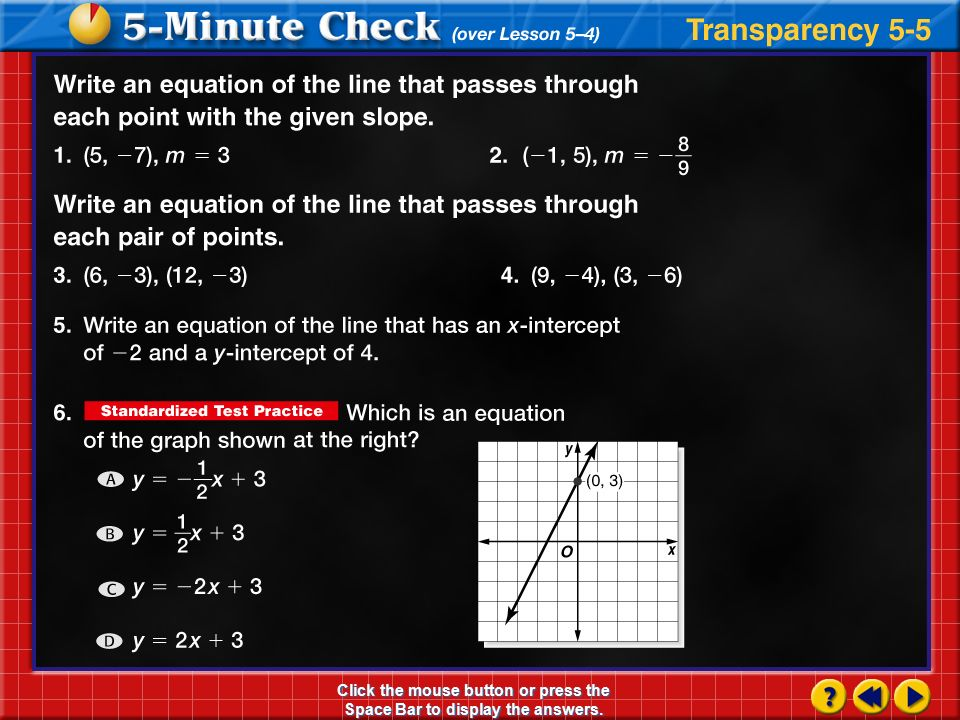 Lesson 5 5 Writing Equations In Point Slope Form Ppt Download