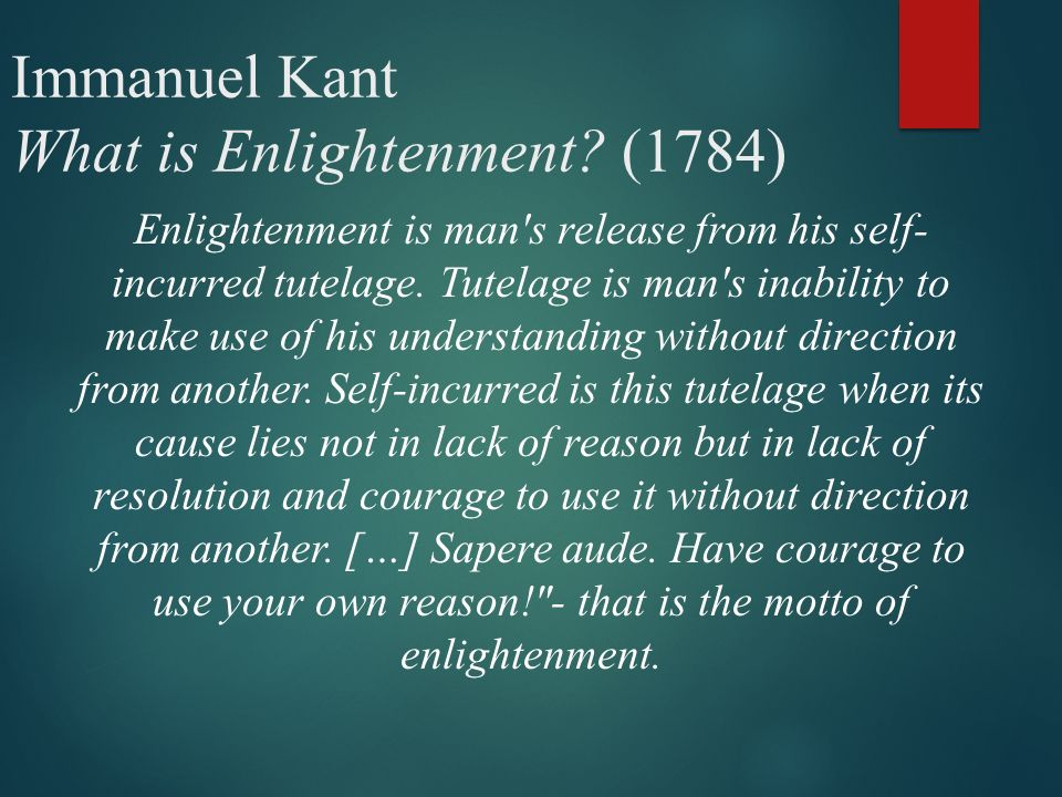 the enlightenment immanuel kant what is enlightenment  2 immanuel kant