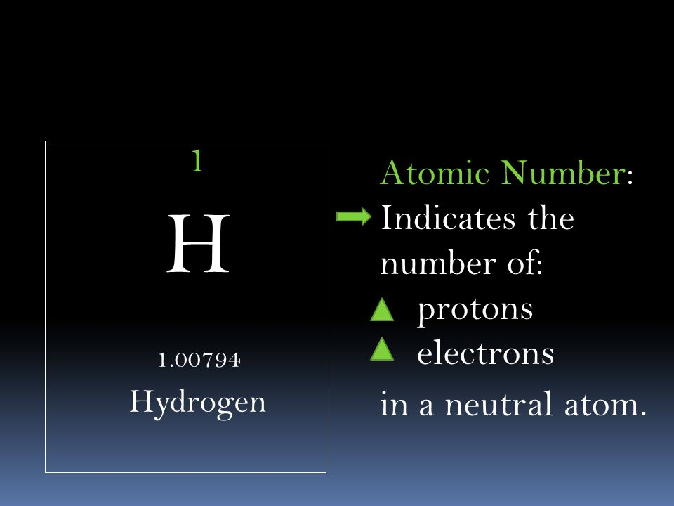 Webelements a periodic table on the web periodic table of elements 4 1 h 100794 hydrogen atomic number indicates the number of protons electrons in a neutral atom urtaz Choice Image