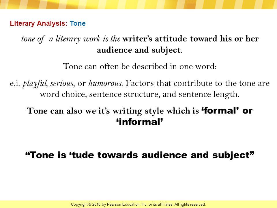 How do I do tone in a literary analysis essay?