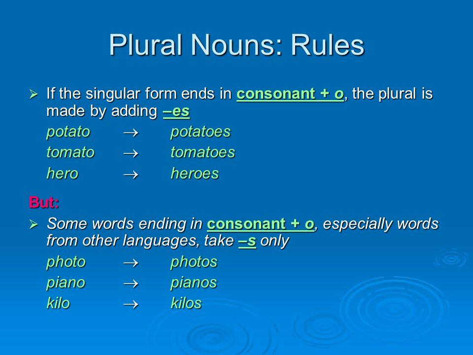 kilo for plural