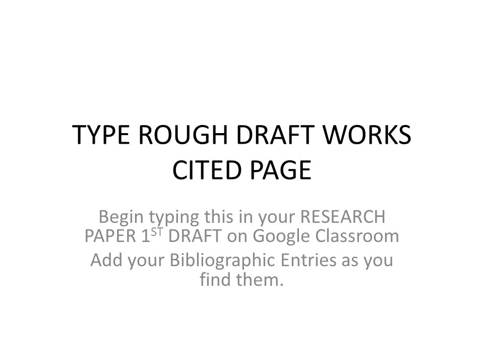 work cited page mla research paper
