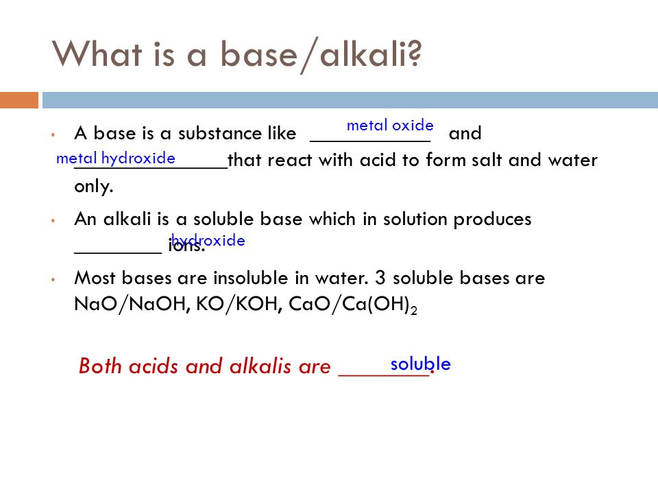 ACIDS & BASES. Acids and Bases reactions occur in everyday life ...