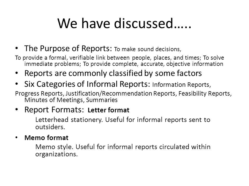Business communication workshop course coordinatorayyaz qadeer informal reports 3 we spiritdancerdesigns Choice Image