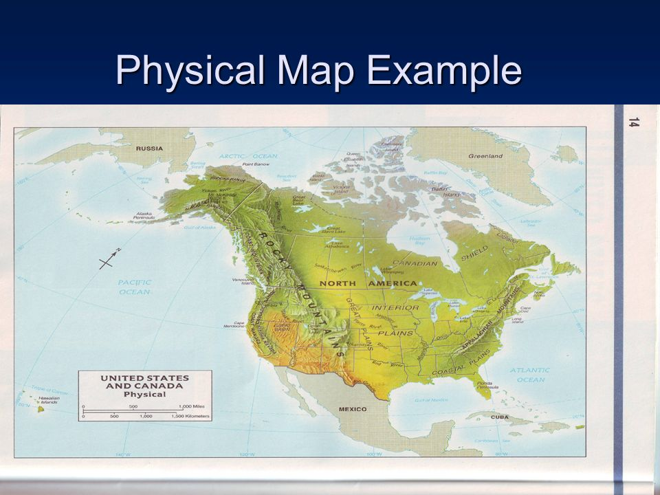 By T Goodson What Is A Map A Map Is A Picture Representation - Physical map of usa and canada