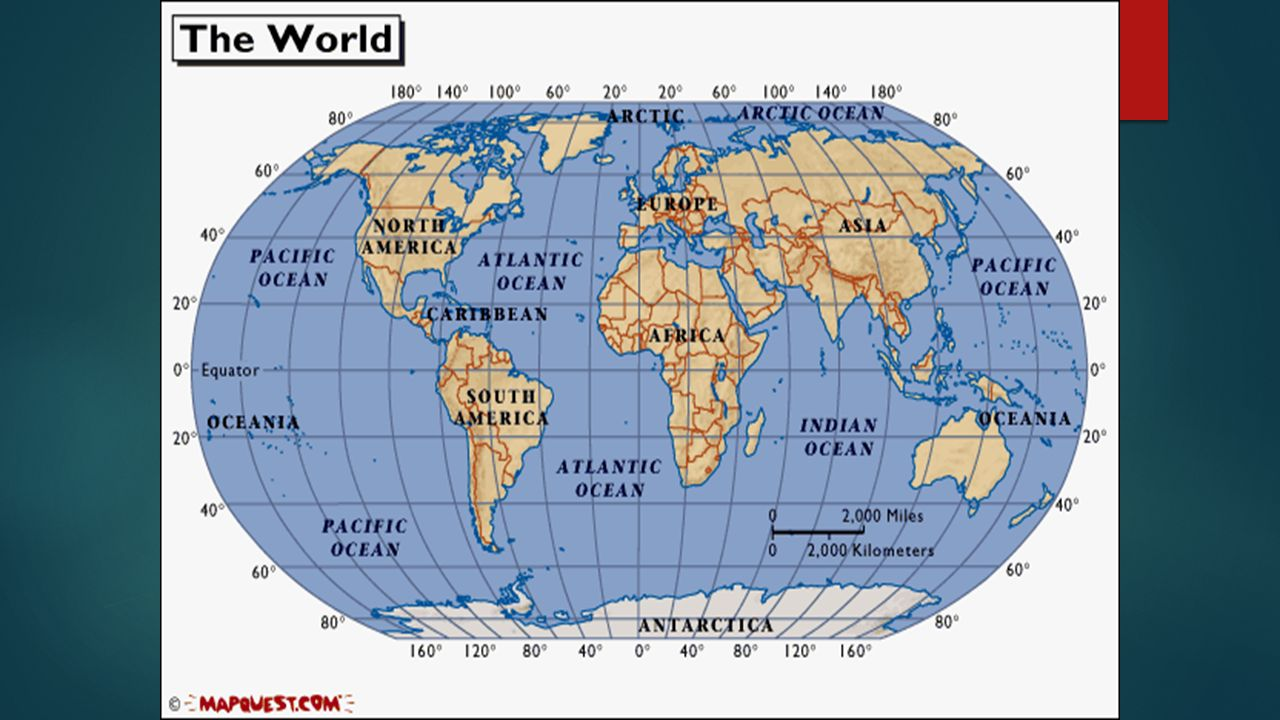 Parts Of The Map What Is Geography Geography The Study Of - Latitude and longitude of france