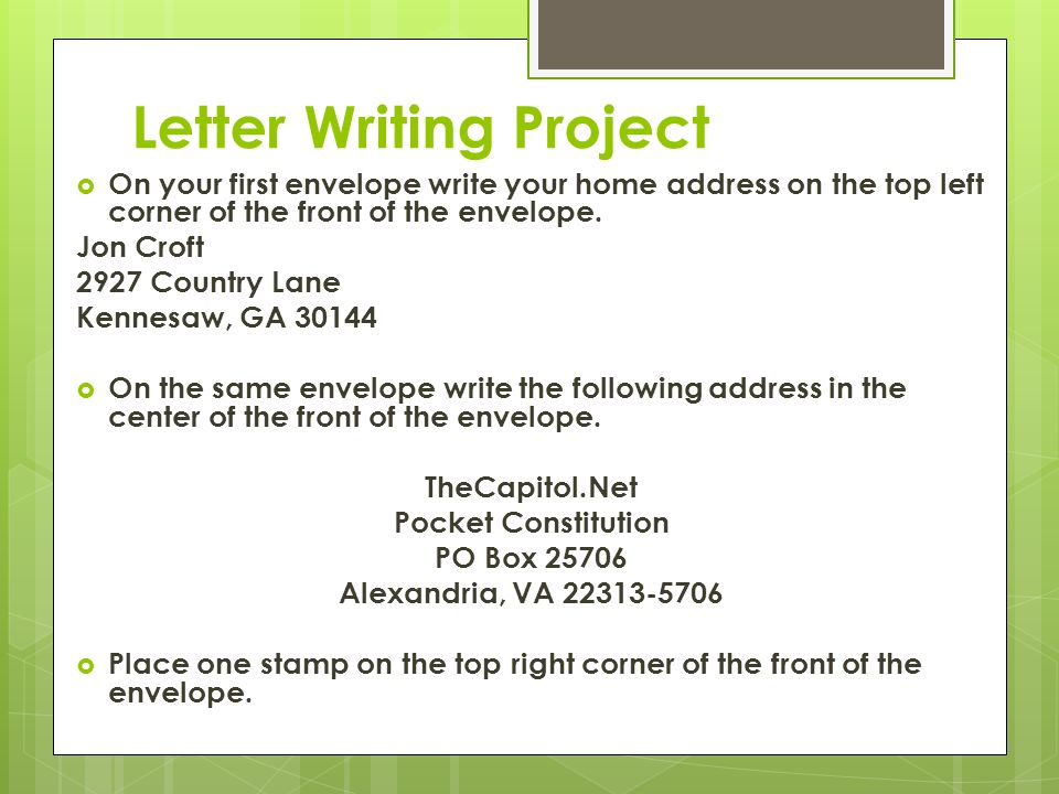 letter writing program