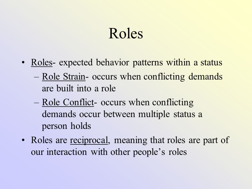 Social Institutions Social Institutions- established patterns of beliefs and behaviors –We exercise our roles within these institutions Examples of Social Institutions –Families –Education System –Governments