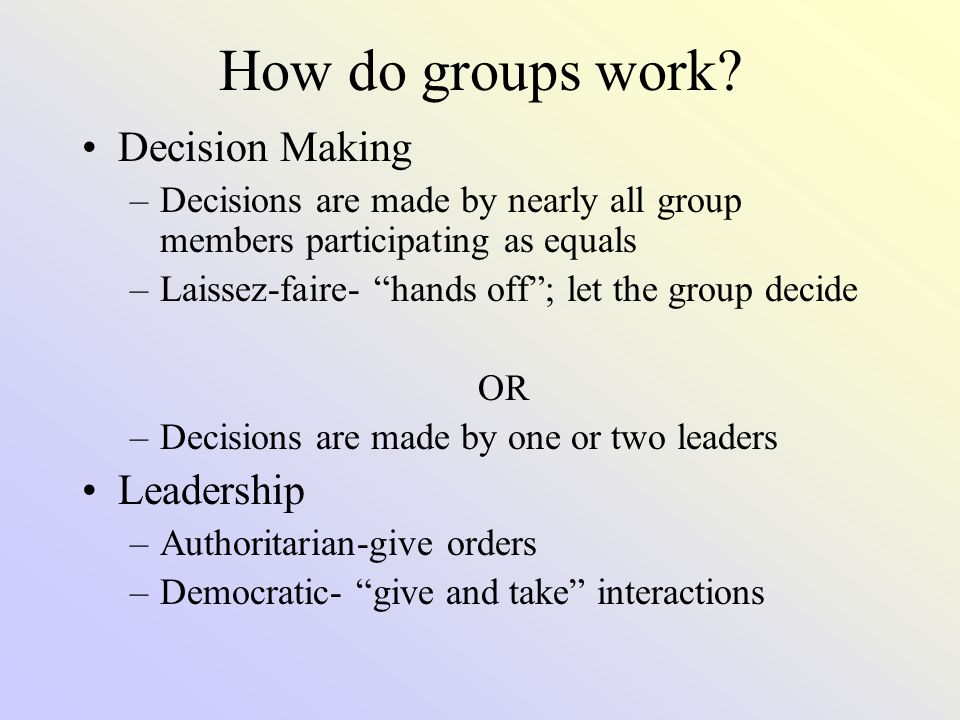 Types of Groups Primary group- people who are emotionally close, know one another well, and seek one another's company Secondary Groups- people who share only part of their lives while focusing on a goal or task