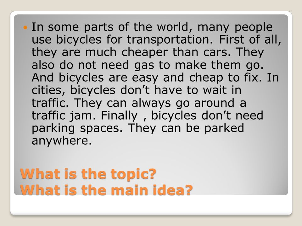 main ideas this is the author s idea about the topic ppt  what is the topic what is the main idea