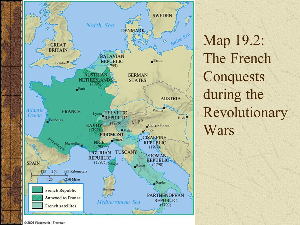 Chapter 19 a revolution in politics the era of the french 15 map 192 the french conquests during the revolutionary wars gumiabroncs Choice Image