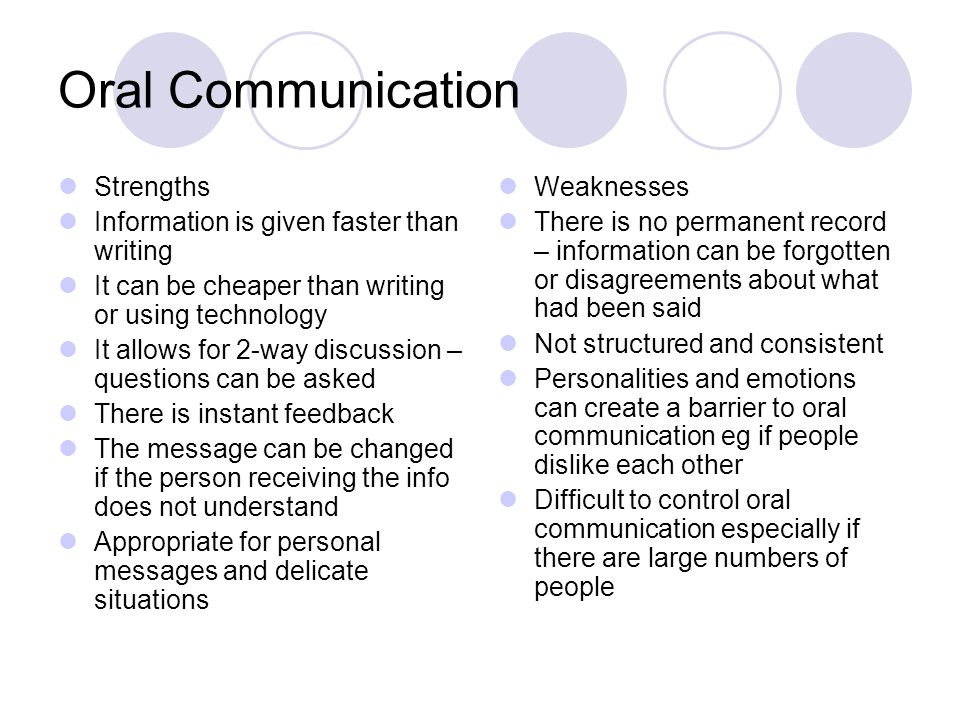 summary of strengths and weaknesses in interpersonal communication