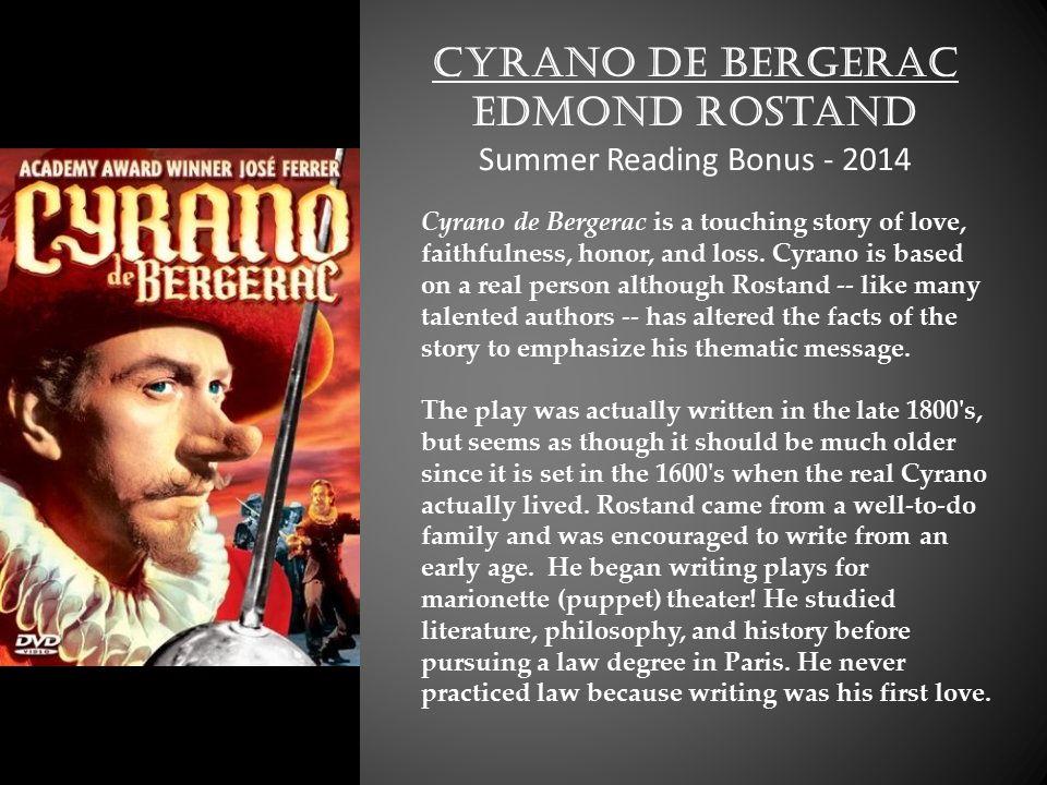 Cyrano de Begerac Essay Help!?