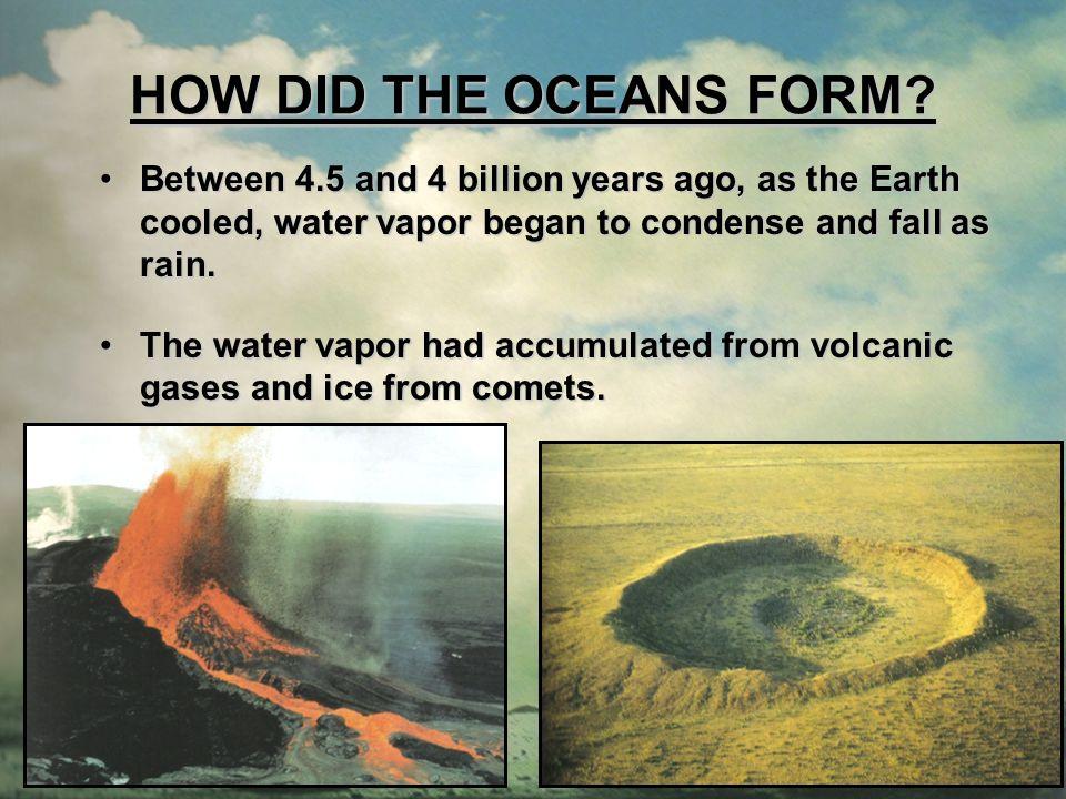 THE OCEANS. ENDURING UNDERSTANDINGS Earth is an ocean planet.Earth ...