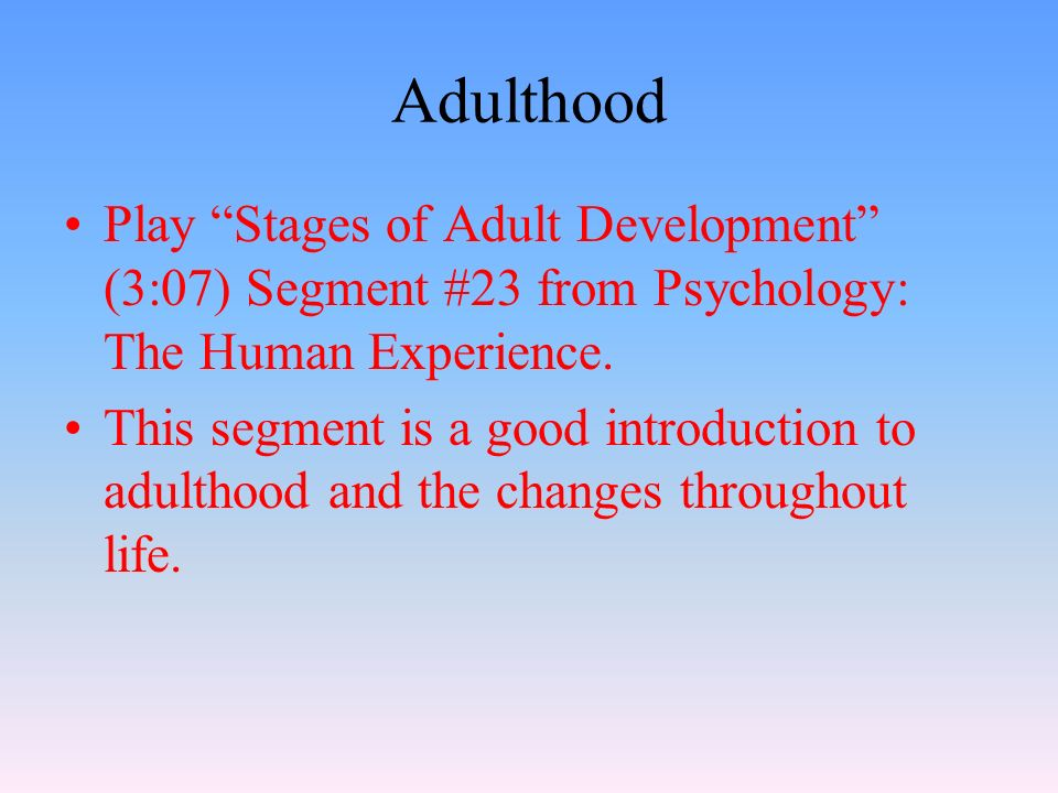 Crystallized Intelligence One's accumulated knowledge and verbal skills Tends to increase with age