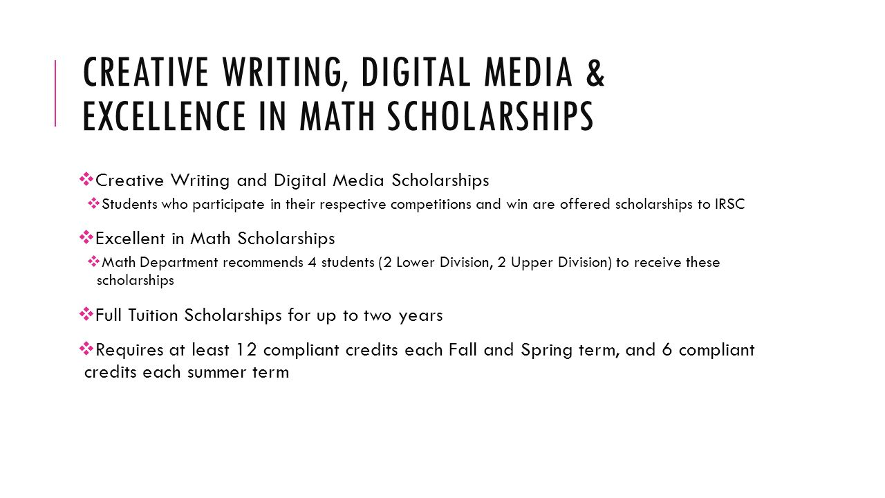 Scholarships For Creative Writing