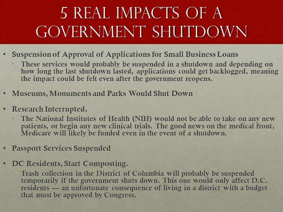 last government shutdown