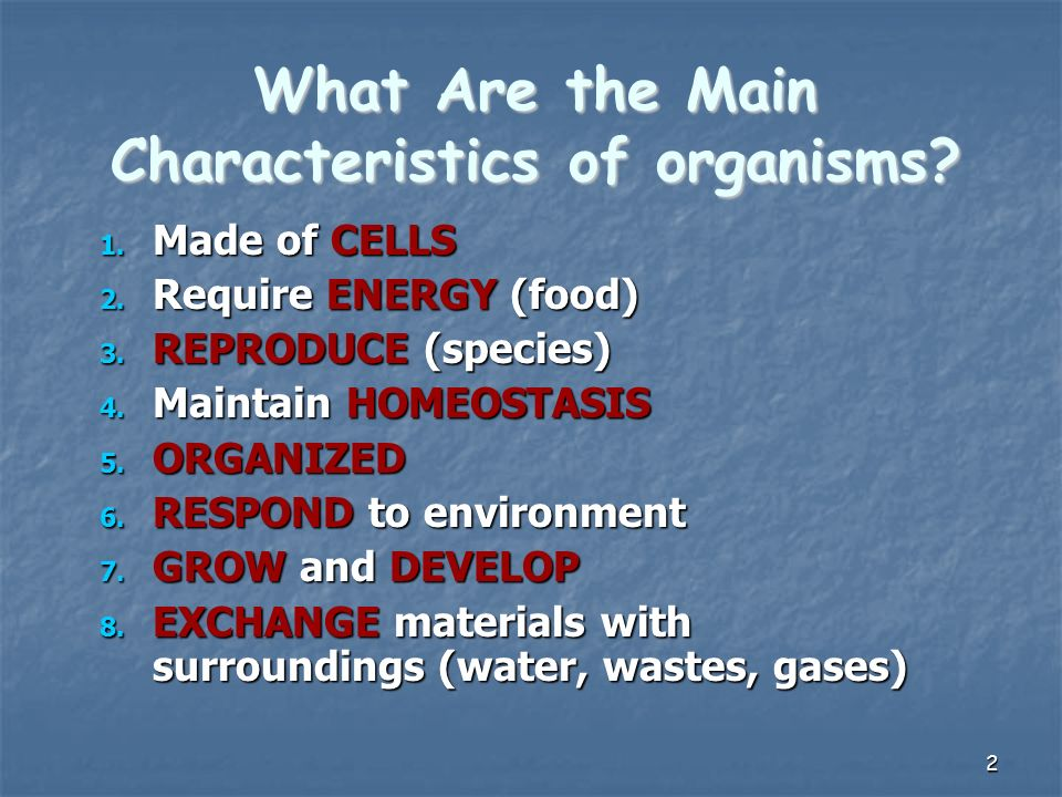 1 Review Facts About Living Things. 2 What Are the Main ...