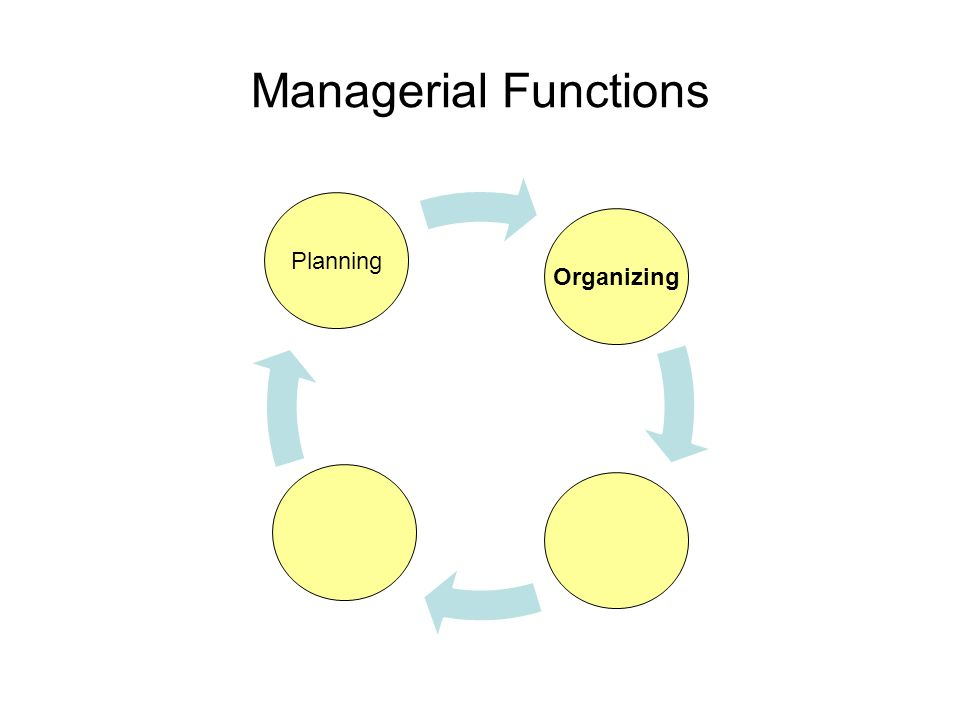 Managerial Functions Planning Organizing