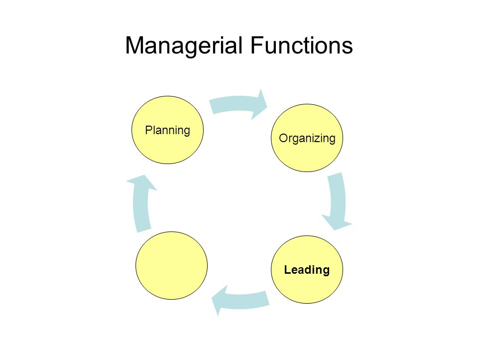 Managerial Functions Planning Organizing Leading