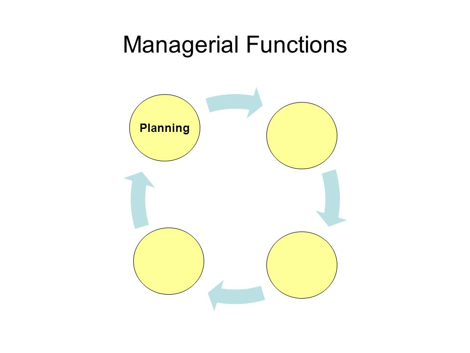 Managerial Functions Planning