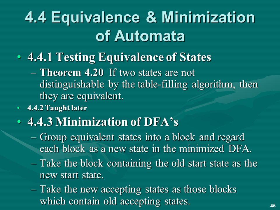 Automaton minimization