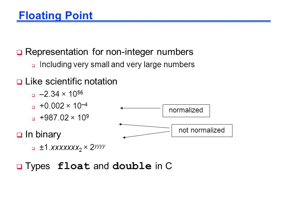 Floating Point Numbers Representation, Operations, and Accuracy ...