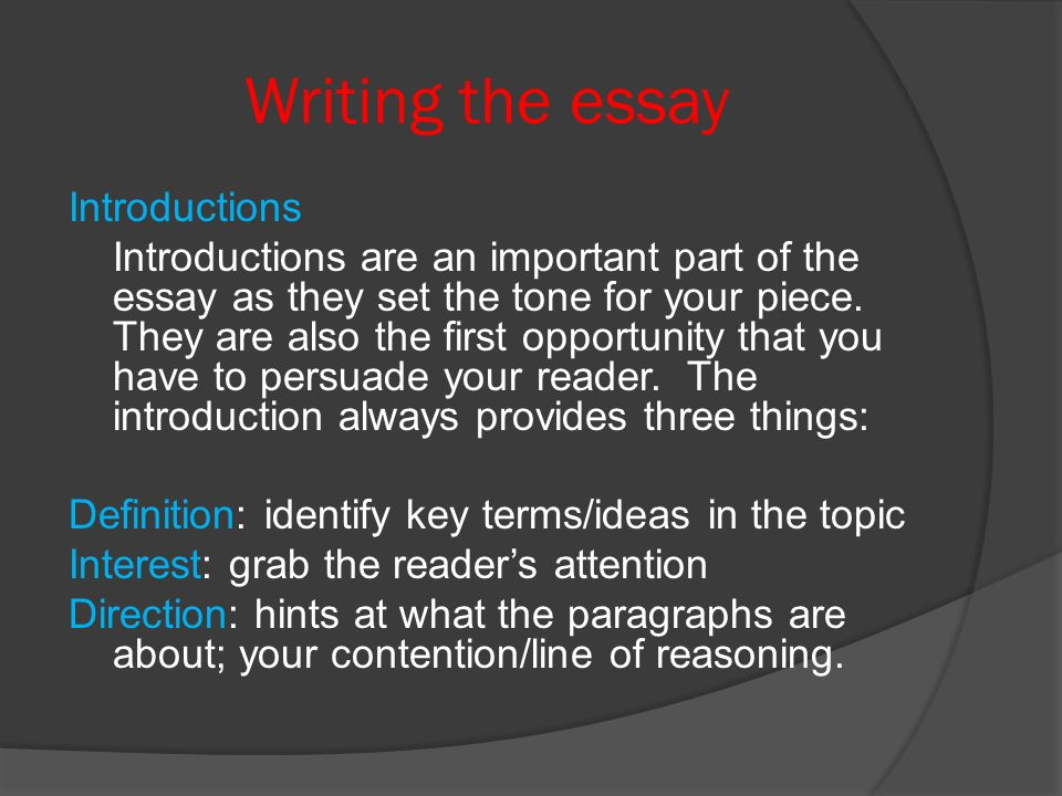 Essay Writing On