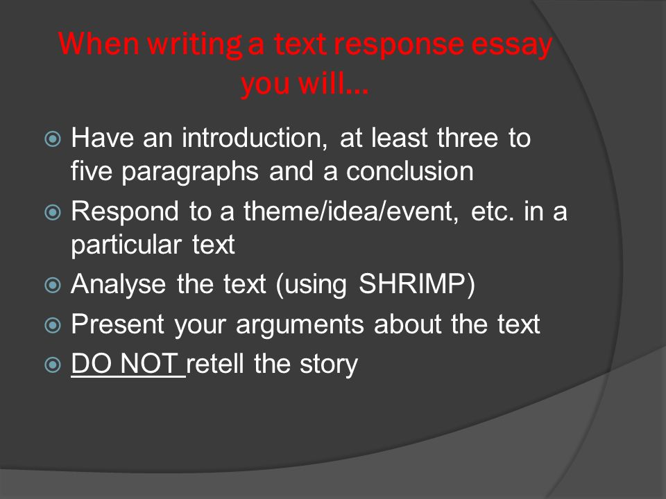 Text response essays…. Text response essays Being able to write a ...