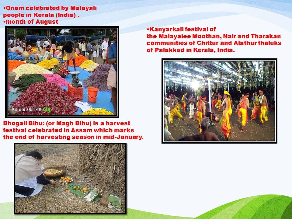 Onam celebrated by Malayali people in Kerala (India).