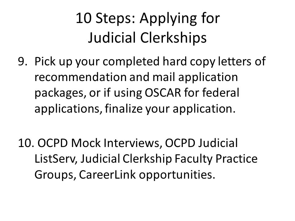 judicial clerkship cover letters