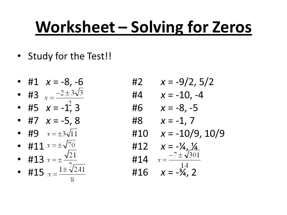 4 3 Skills Practice Solving Quadratic Equations By Factoring – Solving Quadratic Equations by Graphing Worksheet Answers