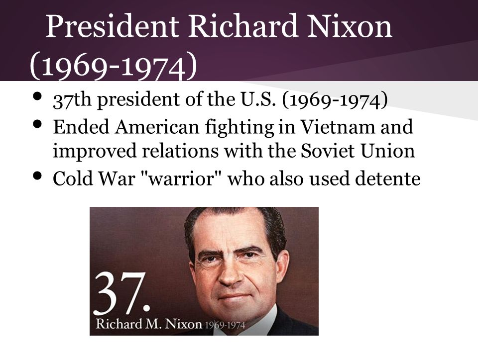 richard nixon as the 37th us president