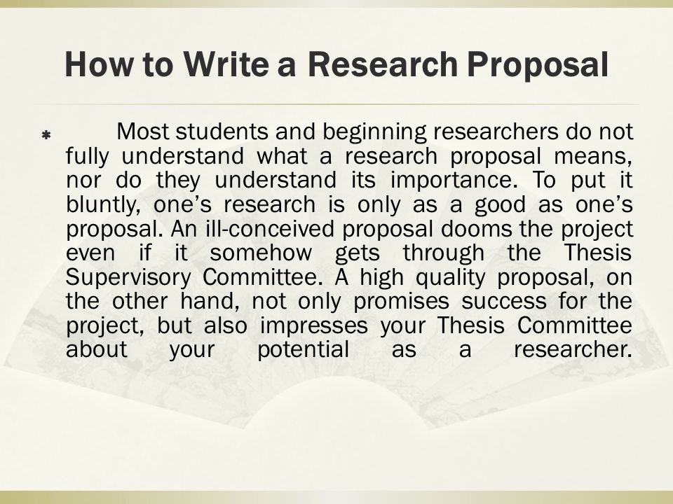 writing a psychology research proposal