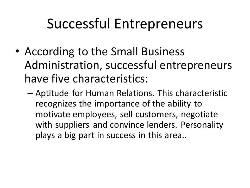 entrepreneurs success