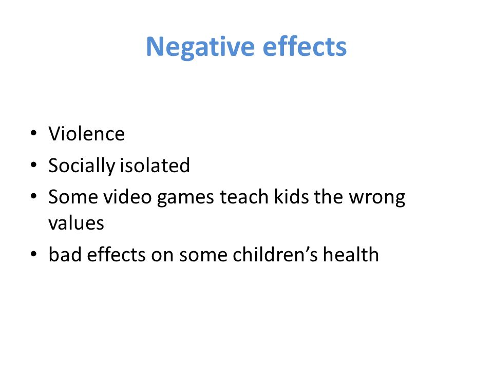 the negative impact of violence on television on children Effects of violence on television can impact family including our children the tv has all but both positive and negative ways tv violence has been.