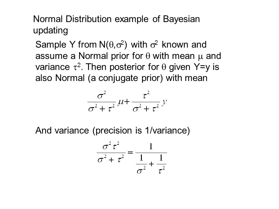 Bayesian updating normal distribution