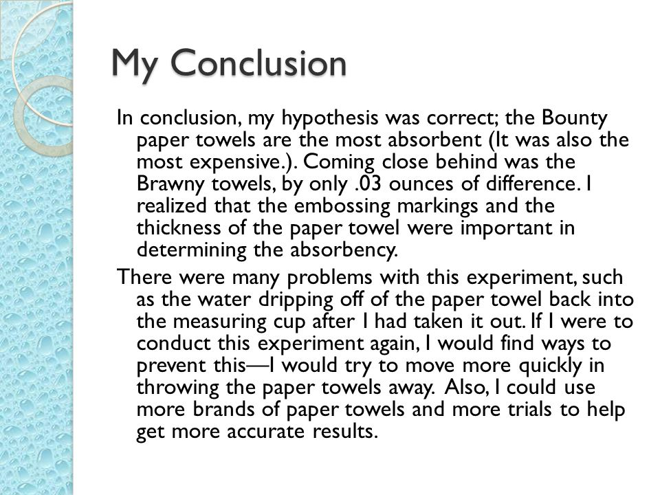 Which Brand of Paper Towel Is The Most Absorbent? The Scientific ...
