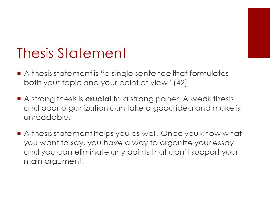 What Is A Thesis Statement For A Research Paper