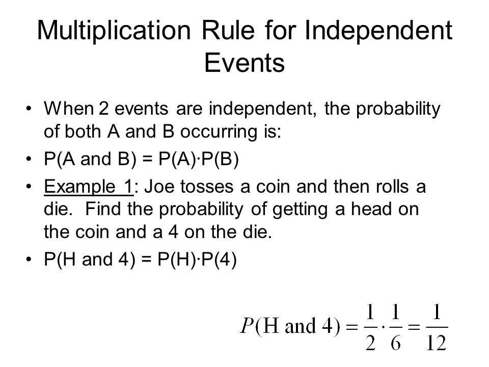 MULTIPLICATION RULES FOR PROBABILITY INDEPENDENT AND DEPENDENT – Independent and Dependent Events Worksheet Answers