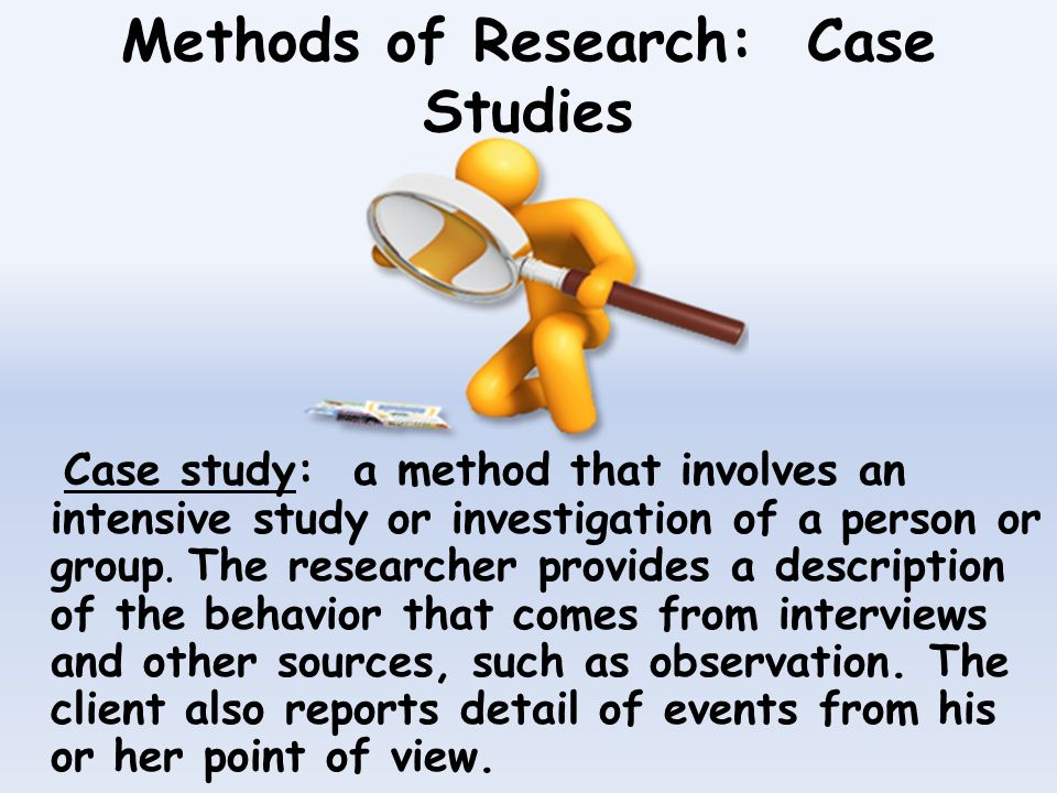 writing a case study psychology Guidelines and purposes for case study submissions to consulting psychology journal: practice and research are presented in this article the purposes of empirical research  the case study starts with a theory or theories and works backward to the facts of the case,  writing is about advancing knowledge authors should be clear on how.