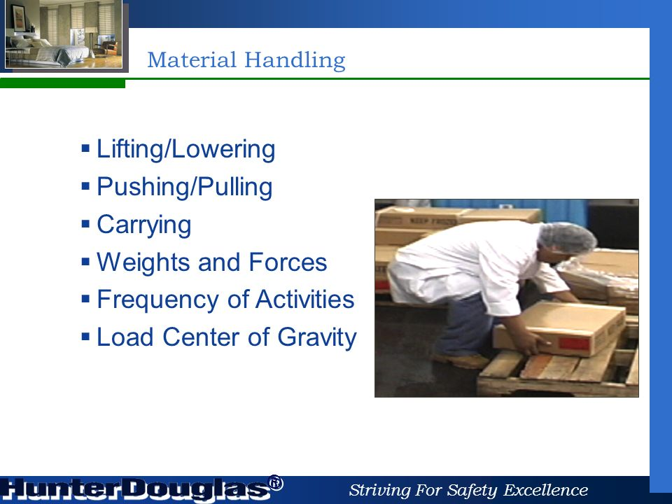 6 striving for safety excellence material handling carrying weights and forces frequency