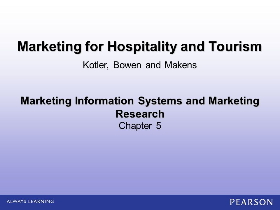 marketing for hospitality and tourism Bhm 4680, marketing for hospitality and tourism 1 course description a study of marketing as one of the most exciting and complex functions of a hospitality and tourism manager.