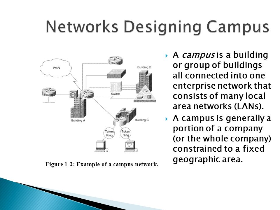  A campus is a building or group of buildings all connected into one enterprise network that consists of many local area networks (LANs).