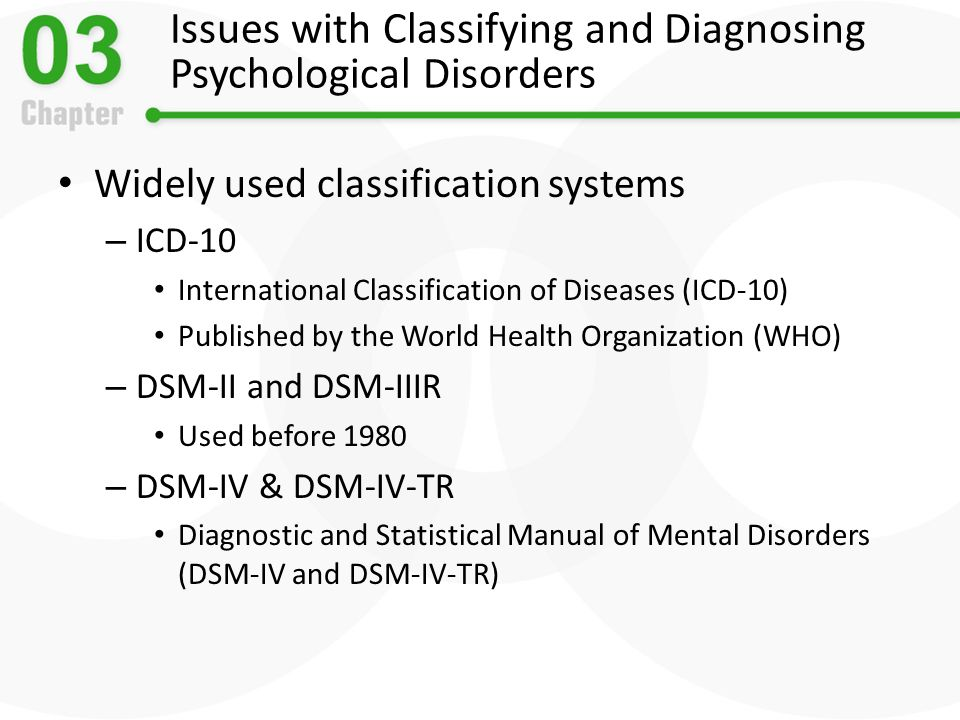 the clinical assessment tools used in creating a psychological diagnosis And emerging assessments and monitoring tools so onset of clinical symptoms (apa, 2013) the dsm-5 use in the general population psychological.