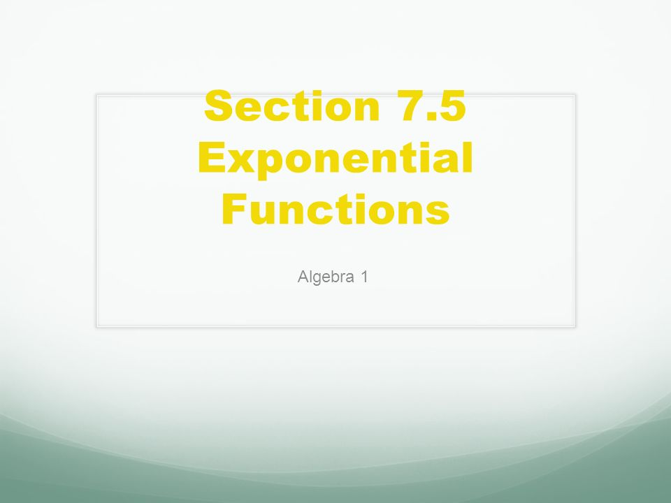Exponential functions worksheet algebra 1 answers