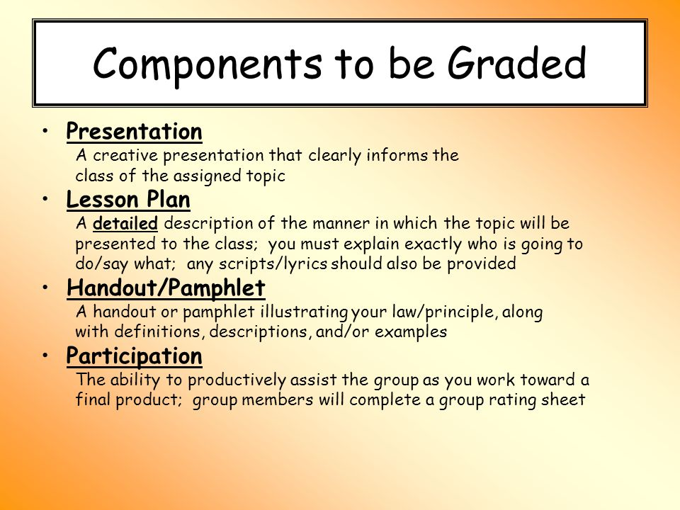 laws principles of matter presentation for this topic on matter 2 components to be graded presentation a creative