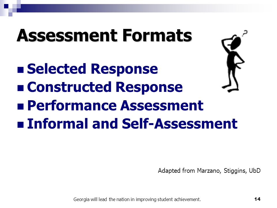 Workforce Management Performance Assessment Part I Forecast. Georgia Will  Lead The Nation In Improving Student Achievement